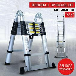 16.5FT Aluminium Ladders Telescoping Multi-Purpose Extension