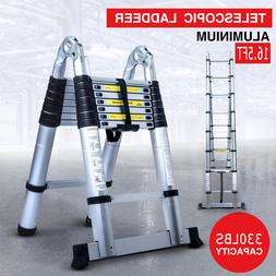 16.5FT Aluminium Ladder Telescoping Multi-Purpose Extension