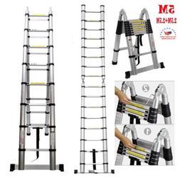 16.5FT  Aluminum Multi-Purpose Folding Telescopic Ladder Ext