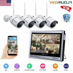 "Wireless 12"" Monitor 1080P WIFI NVR Home Outdoor IP Security"