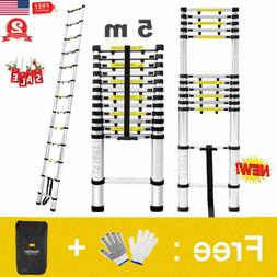 16.5FT Aluminum Multi Purpose Telescopic Ladder Extension Fo