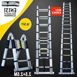 16.5Ft Step Ladder Extension Telescoping Lightweight Portabl