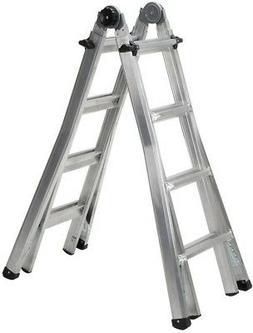 Cosco 17ft. Reach Aluminum Telescoping Multi-Position Ladder