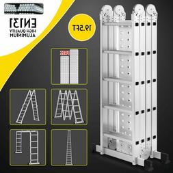 19.5ft Multi Purpose Aluminum Telescopic Folding Extension L