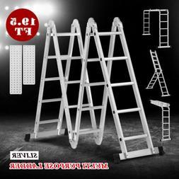 19 5ft telescoping extension ladder aluminum folding