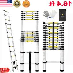 16.4FT Telescopic Aluminum Multi-Purpose Folding Step Ladder
