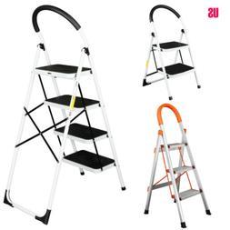 2/3/4 Step Ladder Folding Stool Heavy Duty 330Lb Capacity In