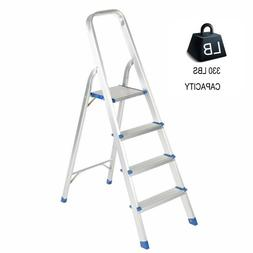 2/4 Steps Aluminum Ladder Folding Step Stool with High Armre