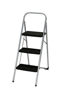 Cosco  2 in. H 200 lb. 3 step Steel  Step Stool
