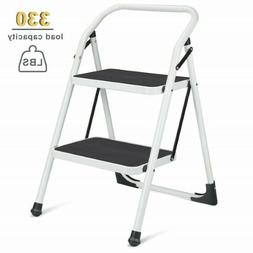 Delxo 2 Step Ladder Portable Step Stool with Handgrip Anti-s