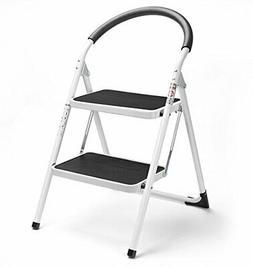 2 ladder folding stool steel