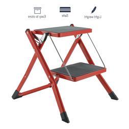 2 Step Aluminum Ladder Folding Lightweight Non-Slip Platform