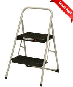 2-Step Household Folding Step Stool, Lightweight, Secure & S