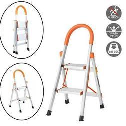 2 Step Ladder Aluminum Folding Home Ladder Folding Step Stoo