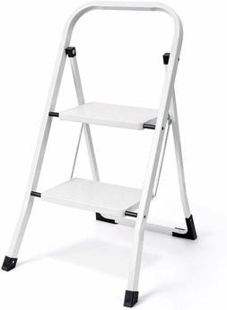 Delxo 2 Step Ladder Folding Step Stool Ladder with Handgrip