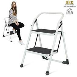2 step ladder steel folding step stool