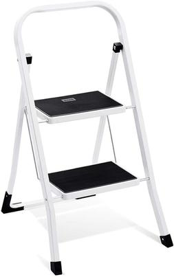 Delxo 2 Step Step Stool For , Folding Metal Step Ladder With