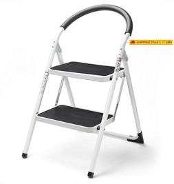 Delxo 2 Step Stool Folding Step Stool Steel Stepladders With