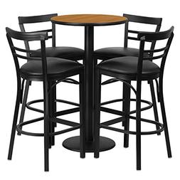 Flash Furniture 24'' Round Natural Laminate Table Set with 4