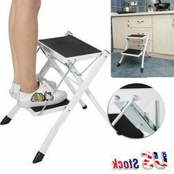 2Step Ladder Folding Stool Heavy Duty Industrial Lightweight
