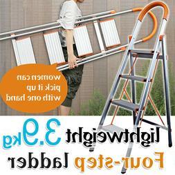 3/4/5 Step Ladder Heavy Duty Folding Stepladder Platform Sto
