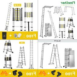 Finether 3.8/4.1/5M Telescopic Ladder Multi-Purpose Aluminiu