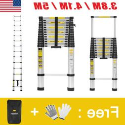 3.8M / 4.1M /5M Aluminum Multi Purpose Telescopic Ladder Ext