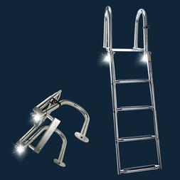 Amarine-made 3 Step Stainless Steel Telescoping Boat Ladder