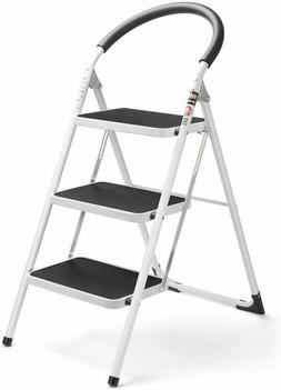Delxo 3 Step Ladder Folding Step Stool 3 Step ladders with H