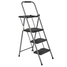 3-Step Ladder Folding Stool Platform With Tray Lightweight A