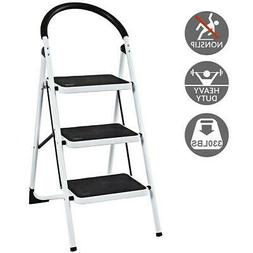 3 step ladder portable folding step stool