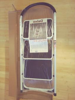 Delxo 3 Step Ladder Stool Combo
