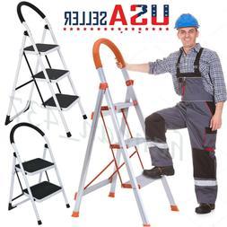 Anti-slip Solid Pedal Handle2/3 Step Ladder Folding Step Sto