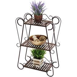 3-Tier Iron Plant Stand Shelf Outdoor/Indoor Patio Pot Holde