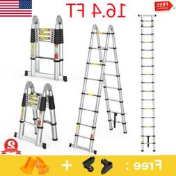 5M Aluminum Multi-Purpose Extention Ladder Folding Telescopi