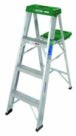 Werner 354 225-Pound Duty Rating Aluminum Stepladder, 4-Foot