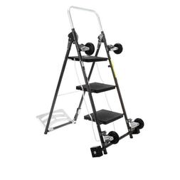 STORESMITH 4-IN-1 CART & LADDER 594-626, BLACK