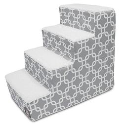 4 Step Portable Pet Stairs By Majestic Pet Products Gray Lin