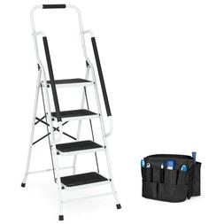 Best Choice Products 4-Step Folding Ladder with Padded Handr