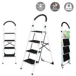 4 Step Ladder Folding Stool 330Lbs Capacity Industrial Light