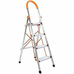 4-Step Stool Ladder Portable Folding Anti-Slip with Hand Gri