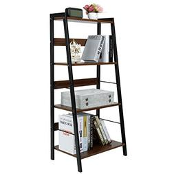 Lifewit Small 4 Tier Leaning Ladder Shelf Bookcase Bookshelf