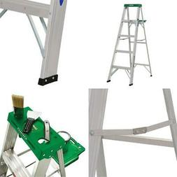 5 ft. aluminum step ladder with 225 lb. load capacity type i
