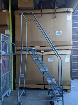 COTTERMAN 5 Steps Narrow 350 lb Load Steel Rolling Ladder 50