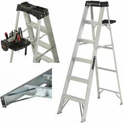 6 Foot Aluminum Stepladder Ladder 250 lb Capacity Type I Hea