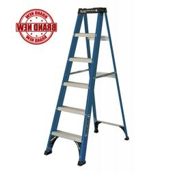 Louisville Ladder 6 ft. Fiberglass Slip-resistant Step Ladde