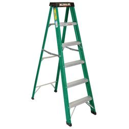 FRANKLIN 6 Ft. Type II Fiberglass Step Ladder