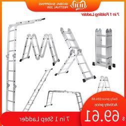 7 in 1 Multi Purpose Step <font><b>Ladder</b></font> Aluminu