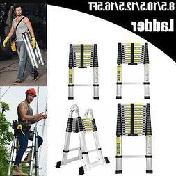 8.5-16.5FT Aluminum Folding Telescopic Extension Ladder Heav