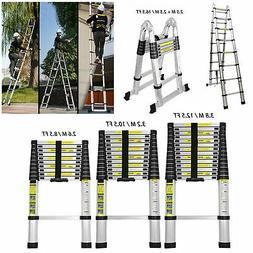 6.5/8.5/15.5/16.5FT Multi Use Aluminum  Ladder Heavy Duty Fo
